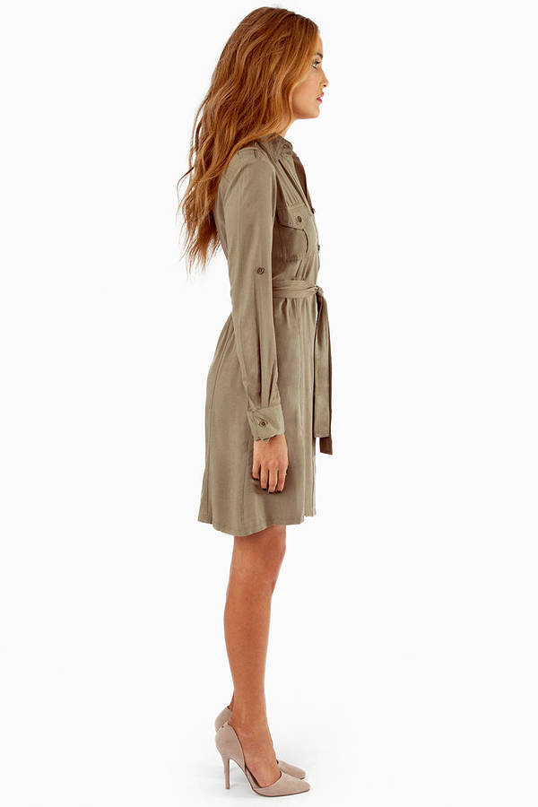 On the Button Shirt Dress