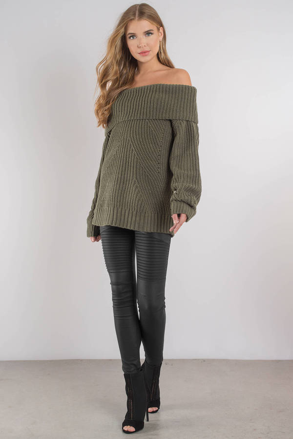 The Chills Black Off Shoulder Sweater - $31 | Tobi US