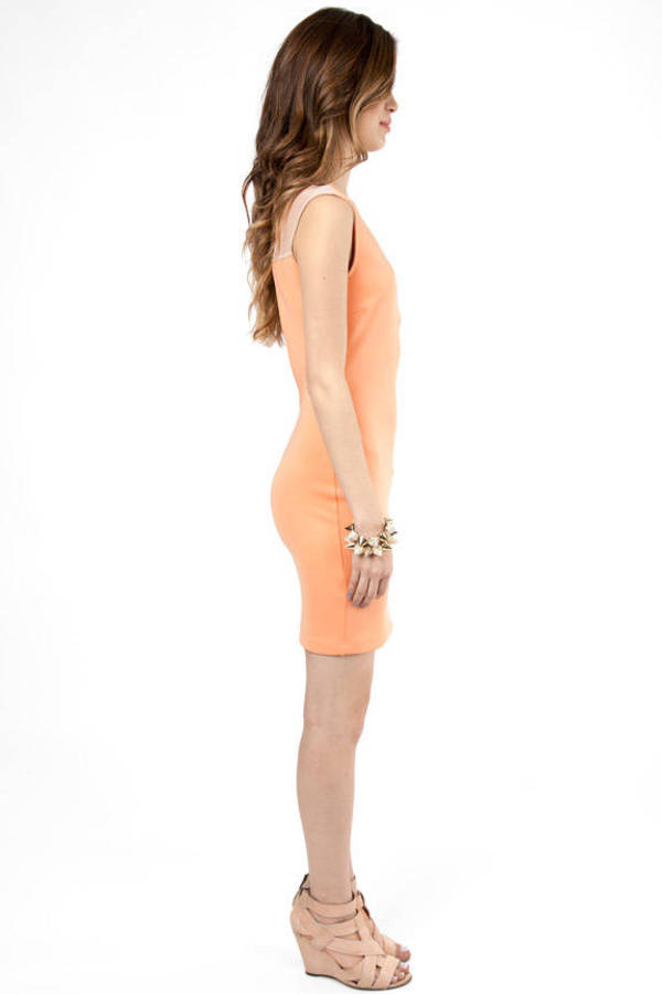 Stefani Deep V-Neck Bodycon Dress