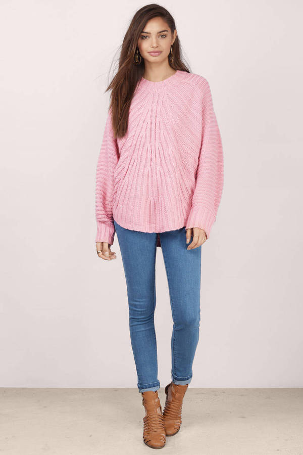 Pink Sweater - Pink Sweater - Knitted Sweater - £18  9bc32e0c9