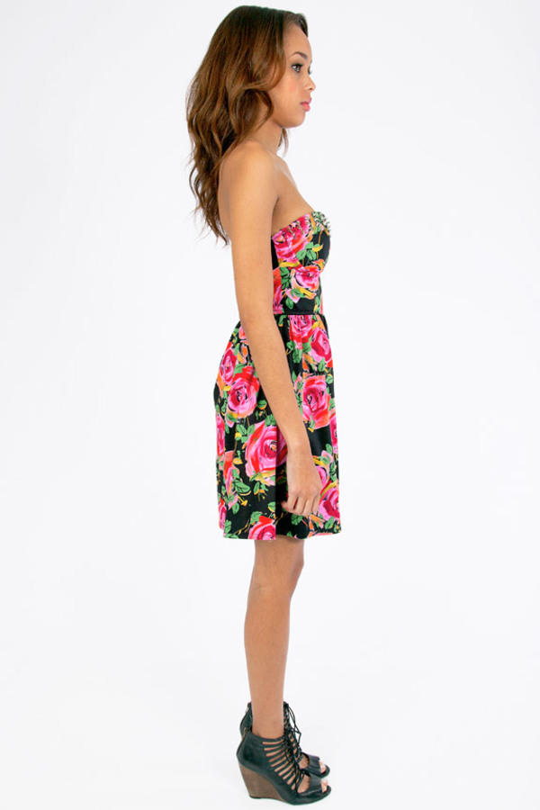 Reverse Cammie Spiked Floral Dress