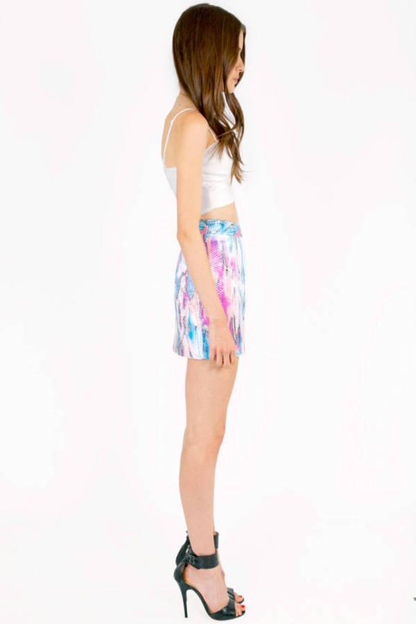 Psychedelic Watercolor Sequin Skirt