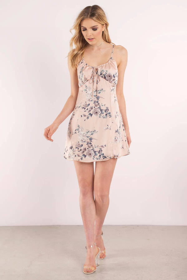Cute Pink Dress Floral Dress Pink Print Dress Shift