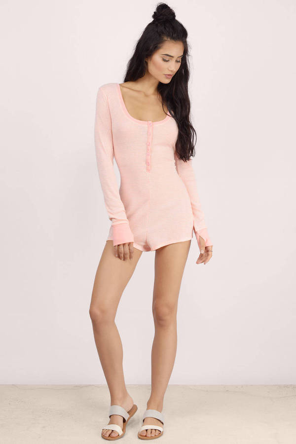 Free Shipping Sites >> Pink Romper - Open Back Romper - Jersey Knit Rompers ...
