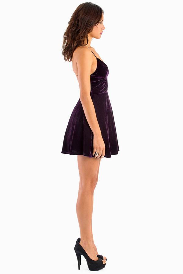 Jump For Joy Velour Dress