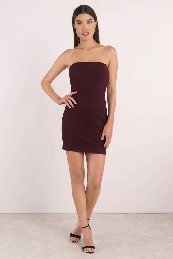 356dd50c6 Cute Dress - Strapless Dress - Open Back - Rose Bodycon Dress - £15 ...