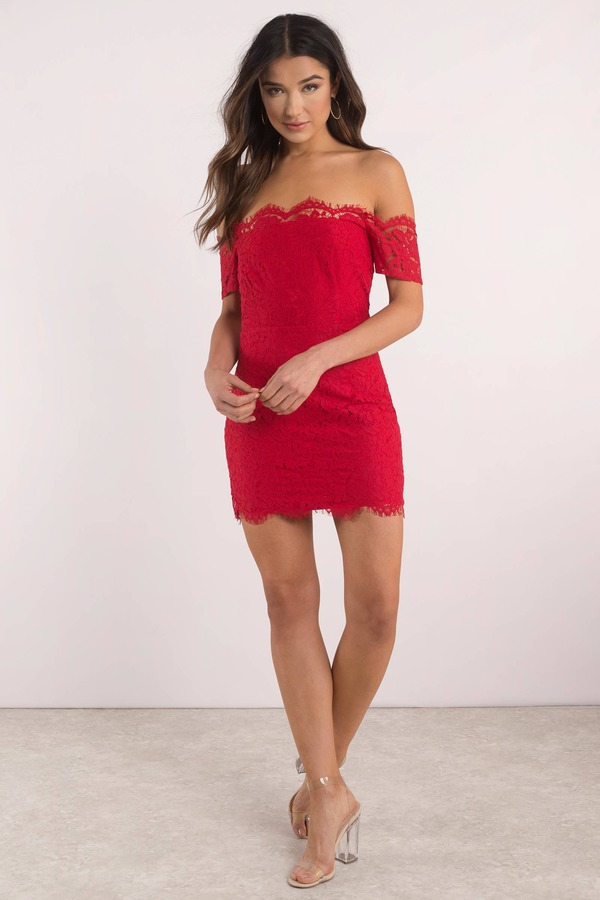 ce21aee806b Red Bodycon Dress - Cocktail Dress - Stunning Red Dress -  35