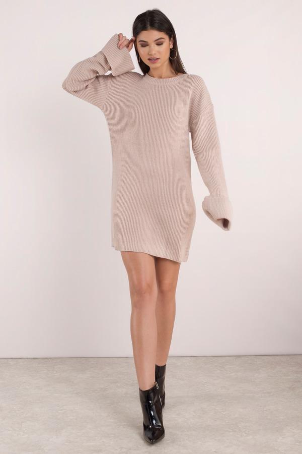 Cute Rose Dress - Long Sleeve Dress - Cuffed Sleeve Dress -  15 ... 3b9ee97075