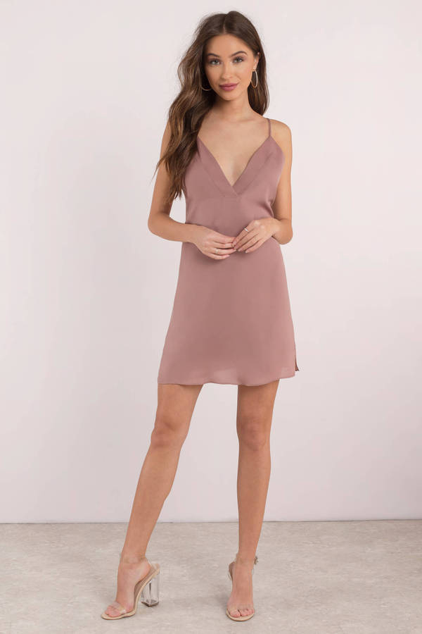 bed3903bc9f Sexy Pink Shift Dress - Satin Cocktail Dress - Pink Going Out Dress ...