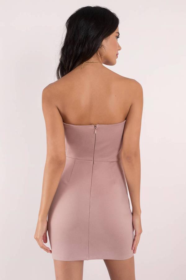4daf558b4 Cute Dress - Strapless Dress - Open Back - Rose Bodycon Dress - $15 ...