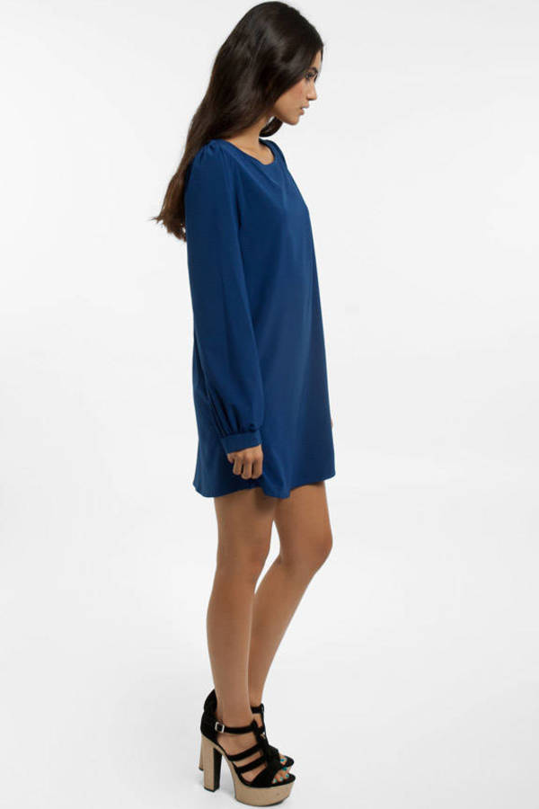 Maria Solid Shift Dress