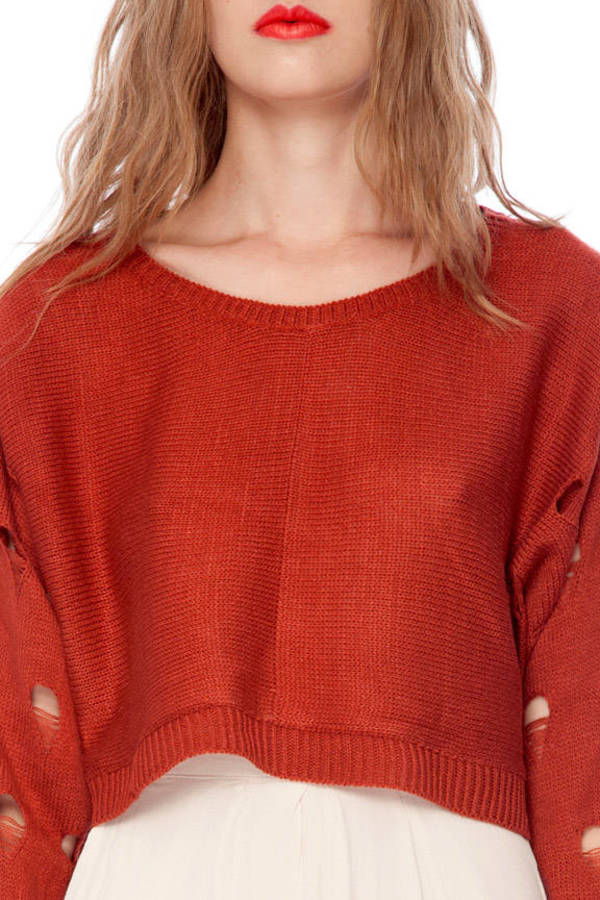 Holey Crop Sweater