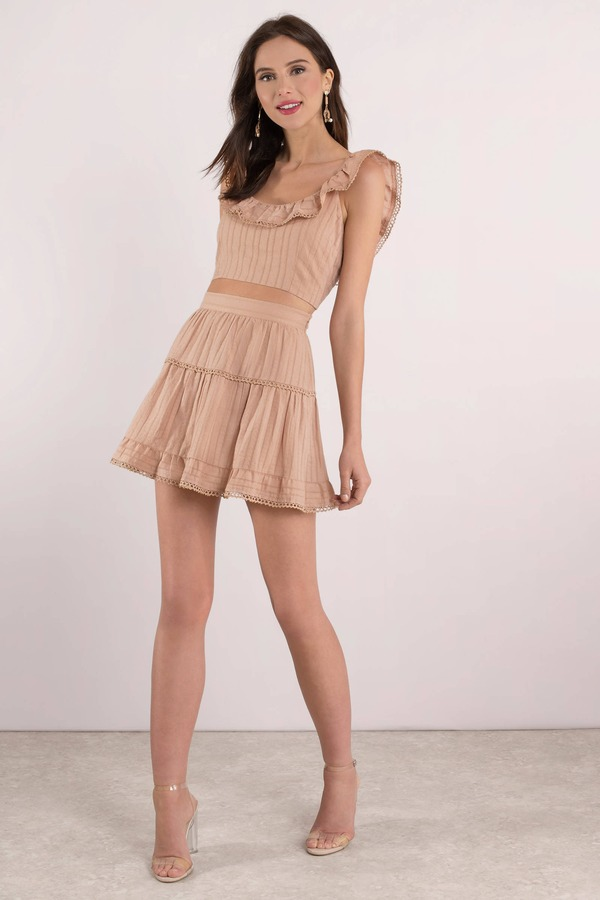 32ae09f5e0 Orange Skirt - Beaded Trim Skirt - Orange Skater Skirt - $20 | Tobi US