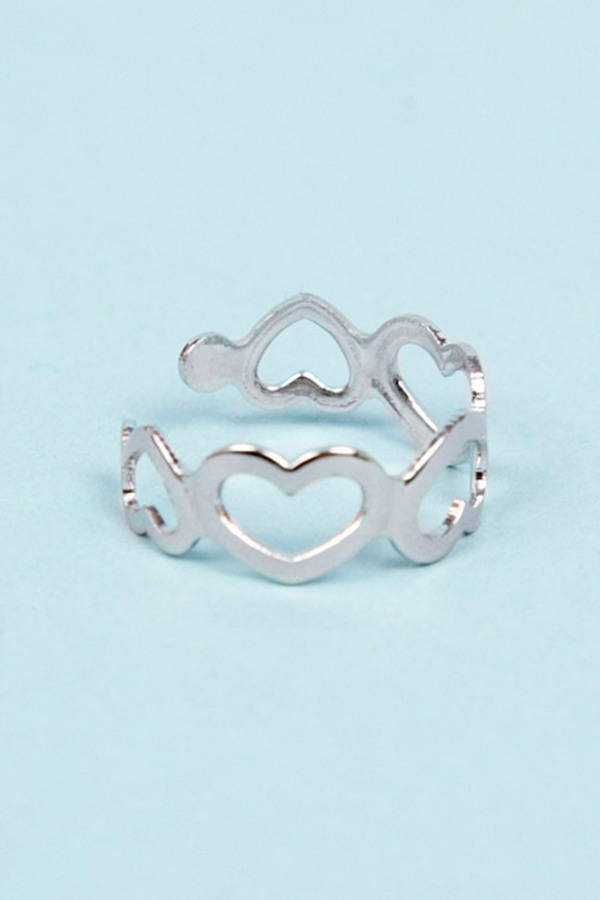 Heart Cutout Knuckle Ring