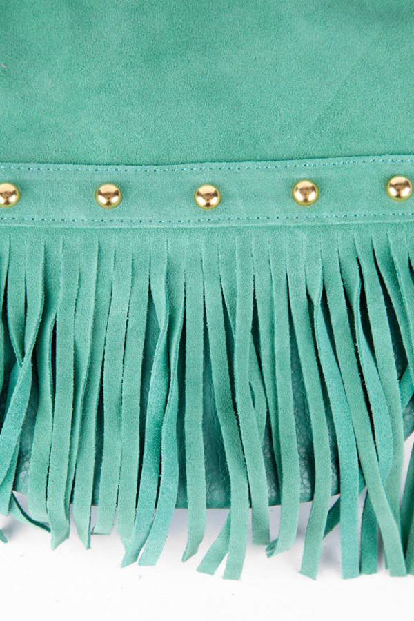 Braided Fringe Bucket Bag