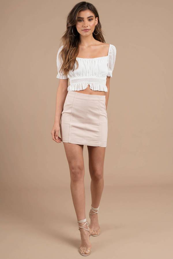 db4bed312 Free People Modern Femme Stone Denim Skirt - NZ$ 88   Tobi NZ