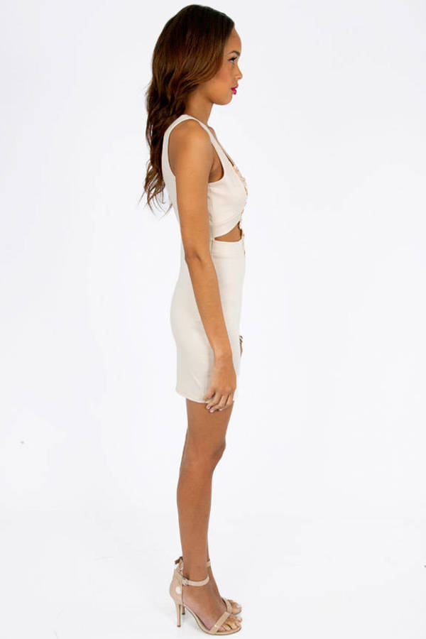 In Too Deep V Bodycon Dress
