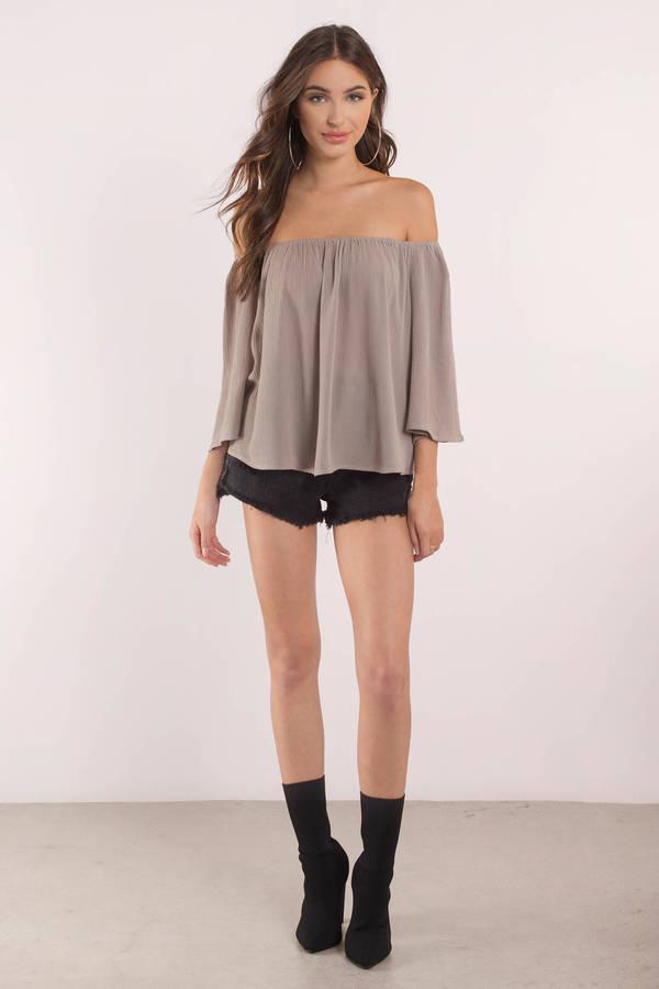 Knee Length One Shoulder Blouse