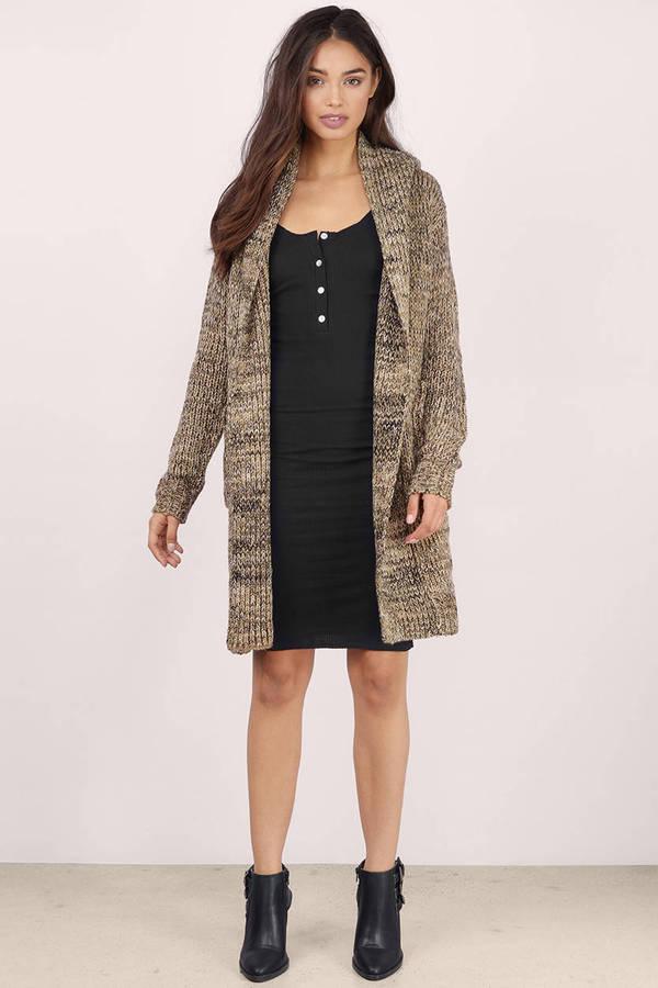 804244b7a7e Cute Taupe Multi Cardigan - Knitted Cardigan - Taupe Multi Cardigan ...