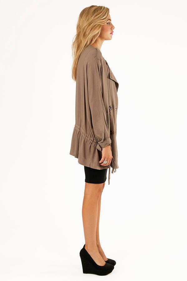 Lush Paulette Trench Coat