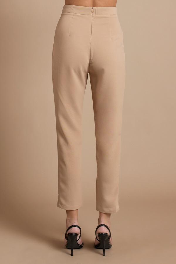 e5c14ef59 Trendy Black Pants - Straight Pants - High Waisted Pants - Pleated ...