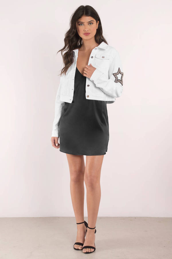 Cute White Jacket - Button Up Jacket - White Jacket - $68 | Tobi US