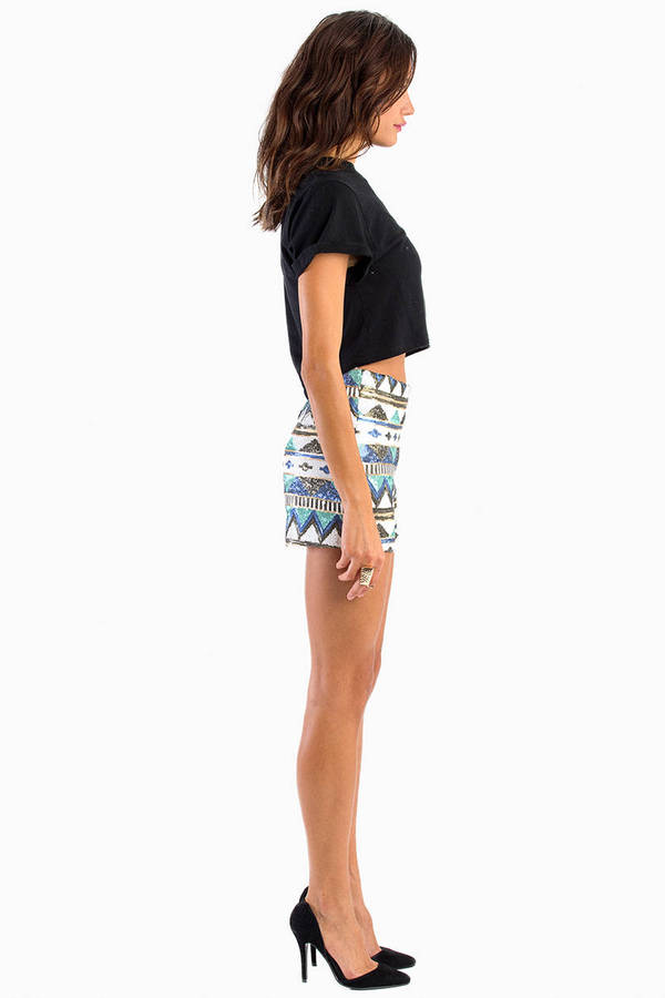 Aztec Sequin Shorts