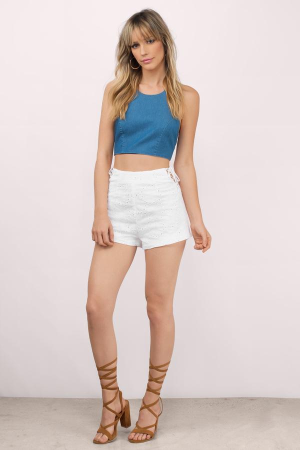 Cute White Shorts - Lace Shorts - White Shorts - White Shorts - $34.00