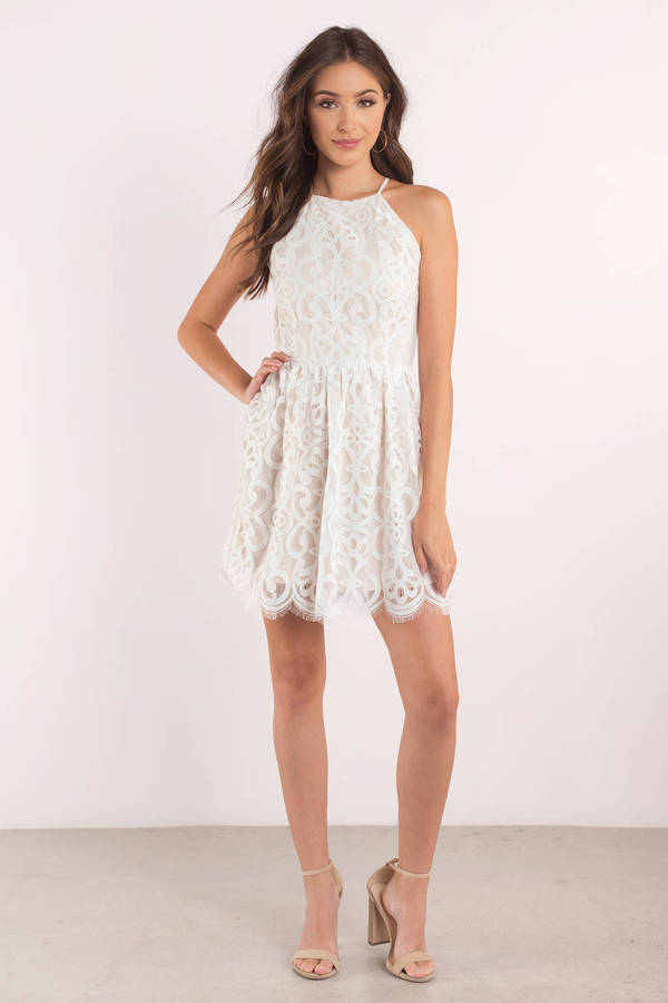 Dare to rock stunning lace dresses in a flattering mini style or channel classy vibes in a sheer maxi lace dress for an evening look that will turn heads. Or if you prefer to keep things on the down low, we have a range of lace day dresses to have you feeling chic and feminine. White Lace Panel Tiered Mini Dress. £ Burnt Orange.