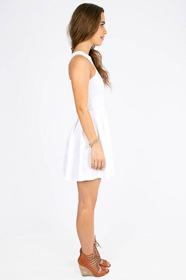 Embossed All Around Dress