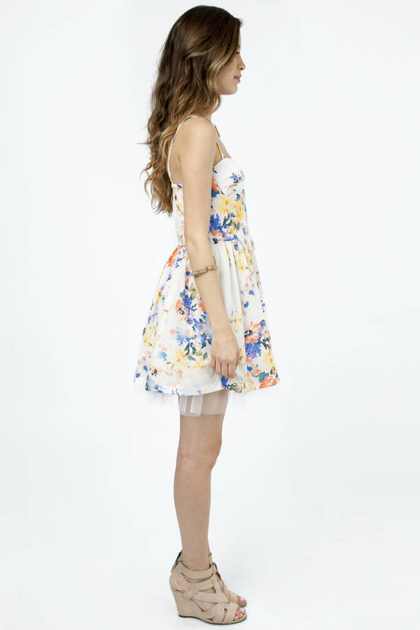 Tulle Story Floral Dress