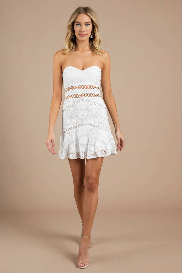 Kiss Me Pink Lace Dress by Tobi