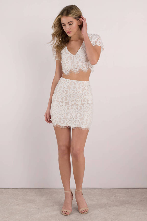 220030183eeafd Cute White Crop Top - Lace Crop Top - White Scalloped Crop Top -  22 ...
