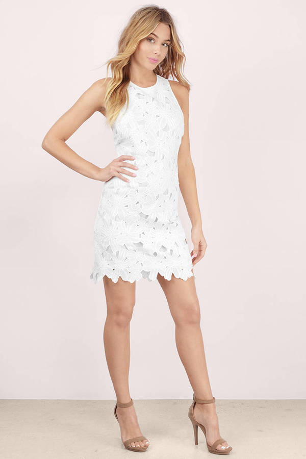 Cheap White Shift Dress Racerback Dress Shift Dress