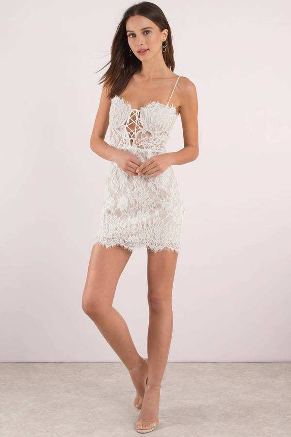 5bffee9a372 Marilyn Lace Bustier Bodycon Dress