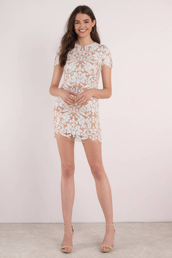 c149fc2d3744 ... Dress the Population Dress The Population Megan White Lace Bodycon Dress