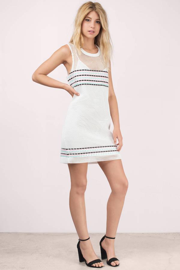 Cute White Wrap Dress - White Dress - Mesh Dress - $15.00