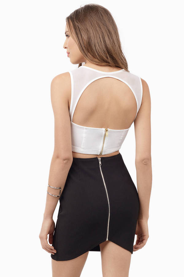 Selina Mesh Crop Top