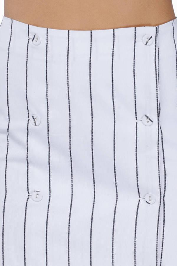 Joa Striped Asymmetrical Skirt