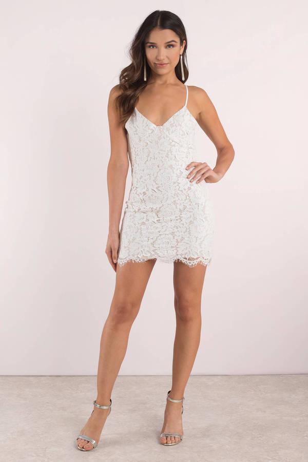 81089f6828367 Trendy White Bodycon Dress - Tight Dress - White Mini Dress - € 18 ...