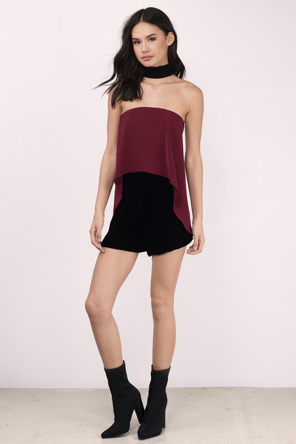 d4c7312f3b6 Cute Wine Shirt - Red Shirt - Strapless Shirt - Wine Shirt - C  18 ...