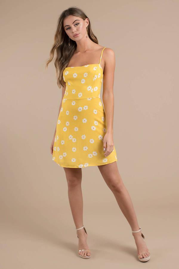 Flower My World Yellow Fl Dress