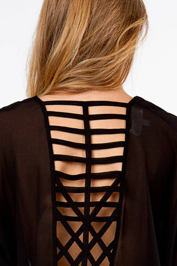 Caged In Blouse