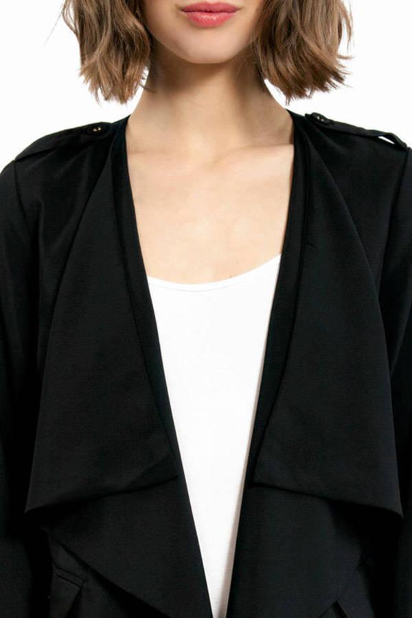 Charize Draped Front Jacket