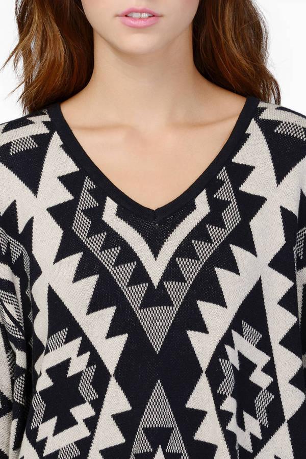 Emmy Aztec Oversized Sweater