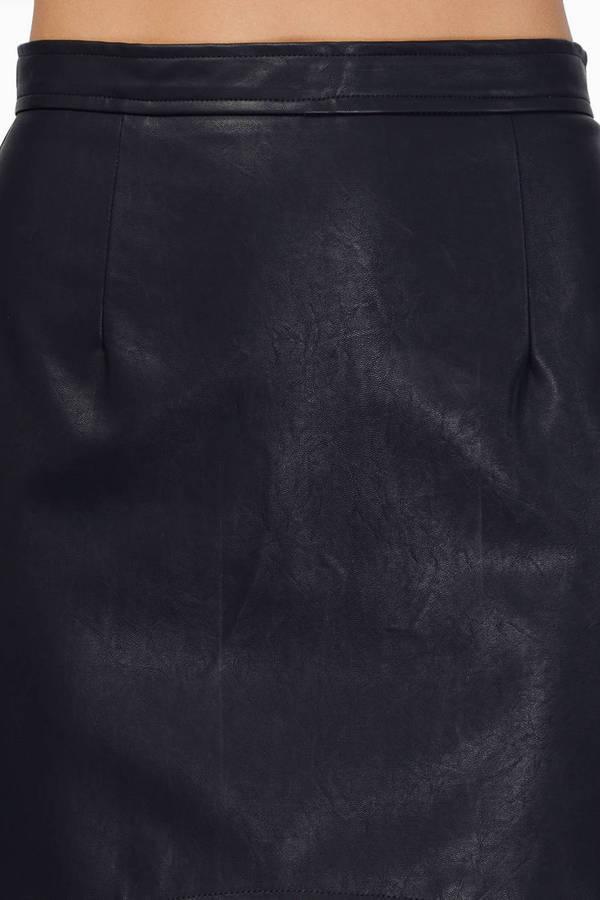 Dark Side Vegan Leather Skirt