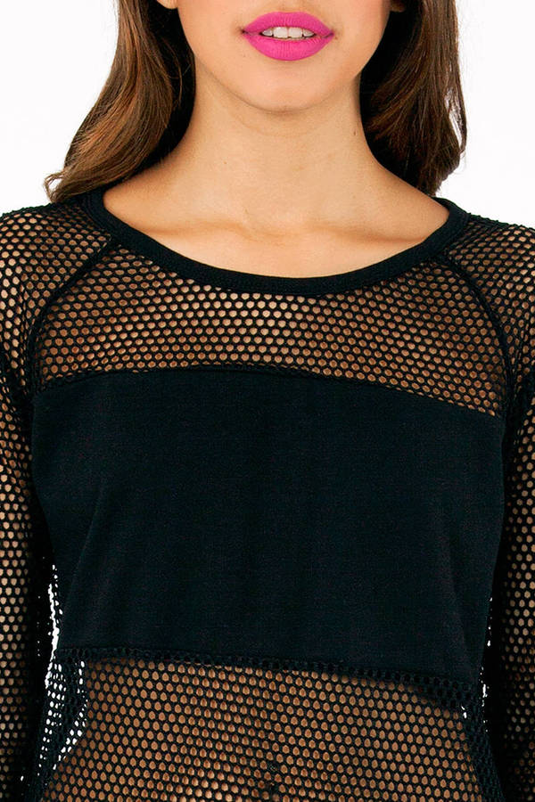 Honeycomb Contrast Top