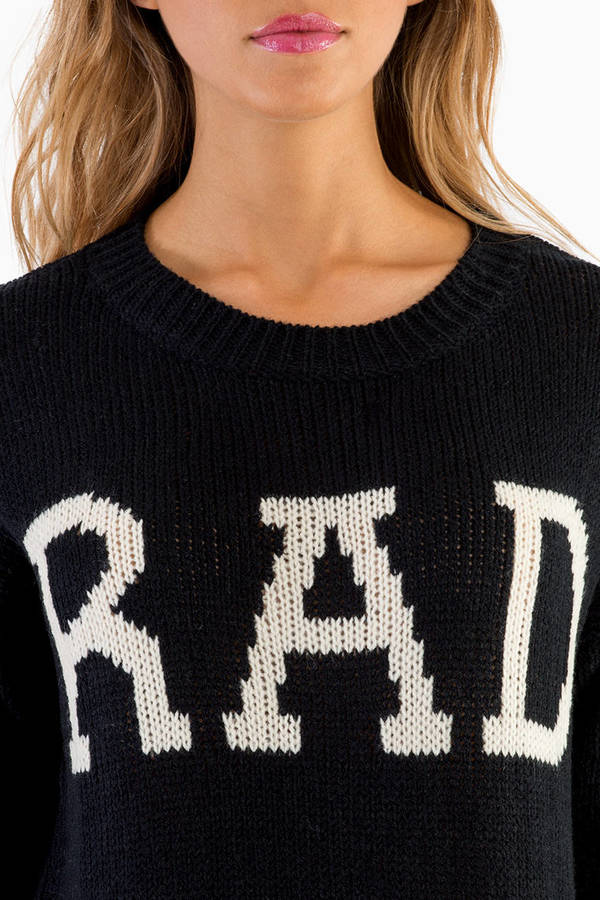 Be Rad Knitted Sweater