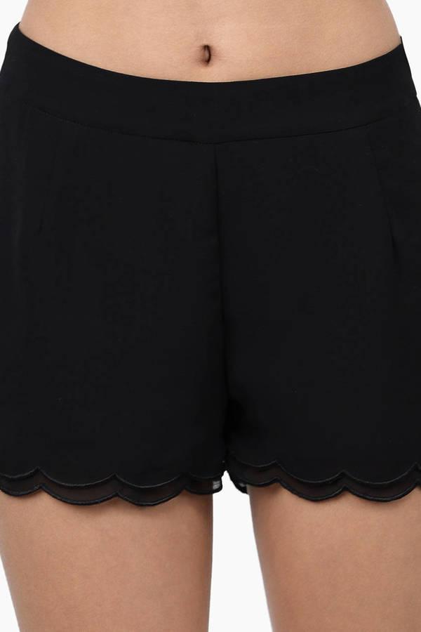 Layered Scallop Shorts
