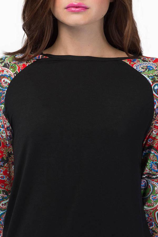Hailey's Print Sleeve Top